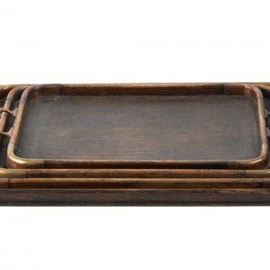 Unusual Set Of 4 Graduating Antique Arts & Crafts Trays antique trays Antique Trays