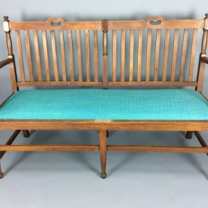 Arts & Crafts Oak Settle Arts and Crafts Antique Benches