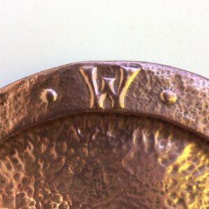 Arts & Crafts Copper Charger Arts and Crafts Antique Metals