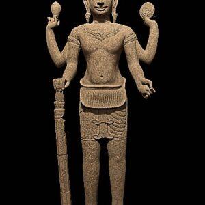 Sandstone 4- armed Lord Vishnu holding his 4 attributes Antique Antiquities