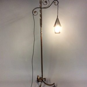 Wrought Iron Arts & Crafts Floor Lamp Arts and Crafts Antique Lighting