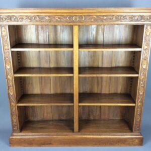 Arts & Crafts/Art Nouveau Open Bookcase Art Nouveau, Antique Bookcases