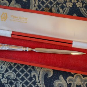 A Circa:- 1982 Sheffield Kings Pattern Silver Handle Letter Opener – Original Box – Collectible / Knife / Knives / Ideal Gift Boxed Silver Ice Tongs Antique Silver