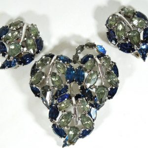 Christian Dior Brooch & Clip on Earrings by Mitchel Maer 1950's Christian Dior Antique Jewellery