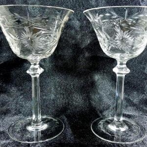 Fine Pair Champagne Glasses champagne Antique Glassware