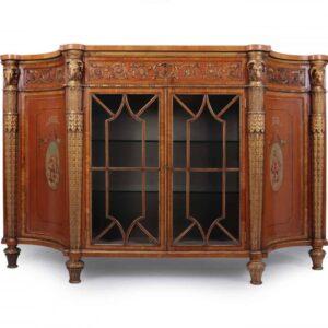 Fine Satinwood and Parcel Gilt Sideboard c1840 Antique Antique Cabinets
