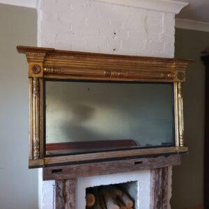 English Giltwood Overmantel Mirror Circa 1835 Antique Mirrors
