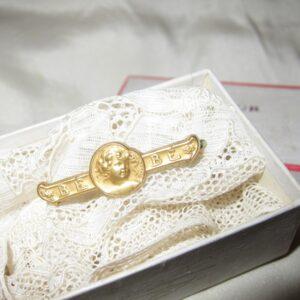 "Art Nouveau French ""FIX""Rolled Gold BEBE Brooch/Becker art nouveau Antique Jewellery"