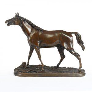 Bronze Horse Sculpture by Mene 1856 Antique Sculptures