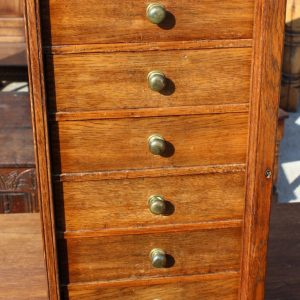 1920's Small Oak Specimen Cabinet with Drawers Antique, Antique Chest Of Drawers