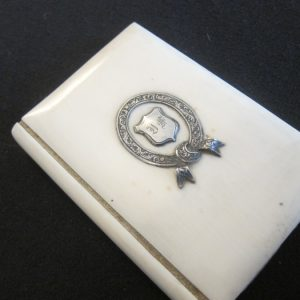 """c.1810-25 Antique French """"Aide Mémoire""""Silk Lined collectables Antique Collectibles"""