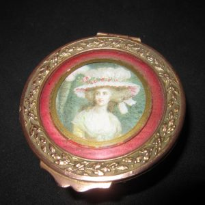 """19th Century French """"Lady"""" Trinket Pot French Antique Boxes"""