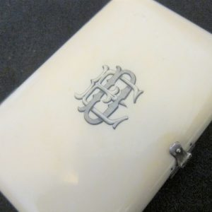 SOLD 1810-30 Antique French Ivory Silk Lined Aide Memoire/Silver Clasp aide memoire Antique Collectibles