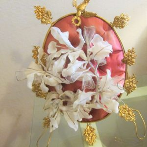 Antique French Gold Gilt Metal Boudoir Stand boudoir stand Antique Textiles