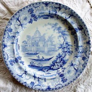 Oriental Scenery Cartouche Surseya Ghaut Plate