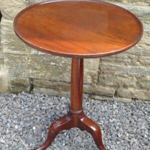 Georgian mahogany gun barrel tripod table circa 1760 Georgian Antique Tables