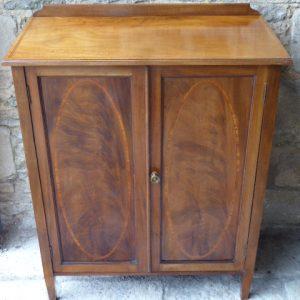 Victorian mahogany inlaid cupboard cupboard Antique Cupboards