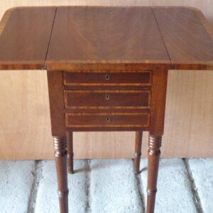 Mahogany inlaid sewing/work table circa 1830 Mahogany Antique Tables