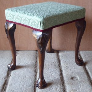 19th century walnut stool with trifid feet stool Antique Stools