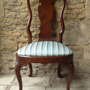 Red walnut side chair early 18th century chair Antique Chairs