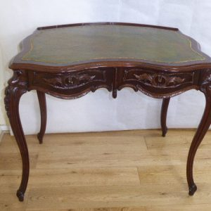 French walnut kidney shaped desk circa 1880 French Antique Desks