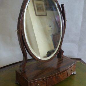 Georgian mahogany toilet mirror circa 1800 Georgian Antique Mirrors