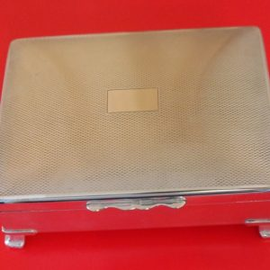 SALE -A Heavy Quality ARISTOCRAT E. P. N. S. Cigarette – Card – Jewellery Box – Ideal Gift / Present Antique Silver Antique Silver