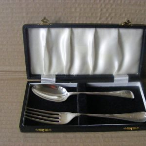 VERY RARE set spoon & fork made for Shah of Persia 1889 Sheffield Persia Antique Silver