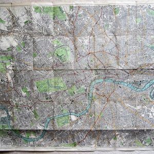 A very detailed 19th century map of Victorian London antique map Antique Maps
