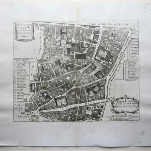 A charming 18th century map of the Bank of England and the Stock Exchange antique maps Antique Maps