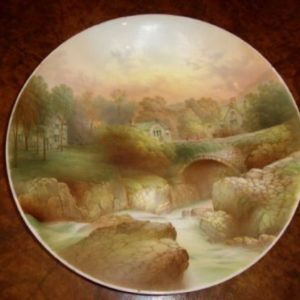 Plate Hand Painted Ponty Pair Bettws Y Coed Wales Antique Ceramics