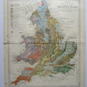 Geological map of England and Wales england Antique Maps