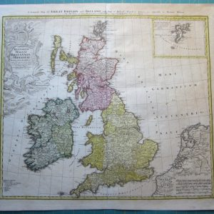 An attractive map of Great Britain by Homann Heirs. antique maps Antique Maps