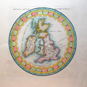 Rare depiction of Great Britain. antique maps Antique Maps