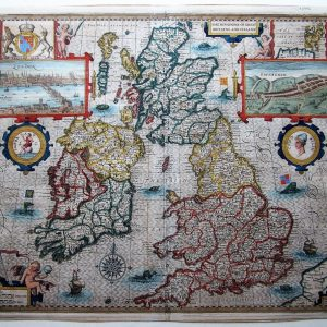 Speed map of Great Britain antique maps Antique Maps