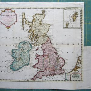 An attractive map of Great Britain by Tirion. antique maps Antique Maps