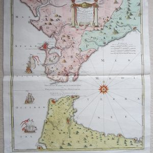 A beautiful map of Gibraltar by Homann. antique maps Antique Maps