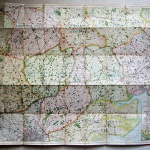 A detailed Hunting map, covering the South East. antique maps Antique Maps