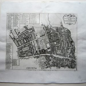 A charming 18th century map of Holborn, Gray's Inn and Lincoln's Inn. antique map Antique Maps