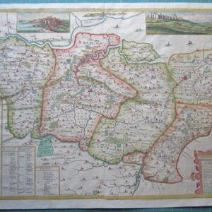 Rare Map of Kent by Symonson. antique maps Antique Maps