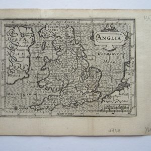 Miniature map of England and Wales. antique maps, Antique Maps