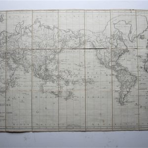 A large folding map of the World by Poirson. antiquemaps Antique Maps