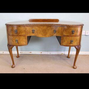 Burr Walnut Writing Desk / Dressing Table