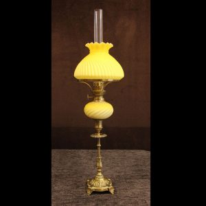 Antique Victorian Satin Glass Peg lamp