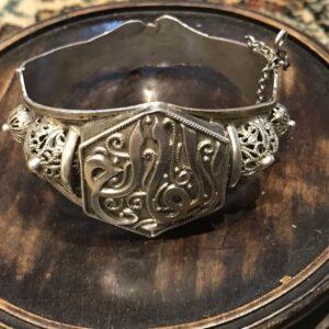 Russian Victorian solid silver bracelet Antique Jewellery