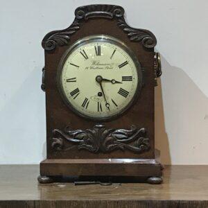 Bracket Clock mahogany circa 1820 Antique Clocks