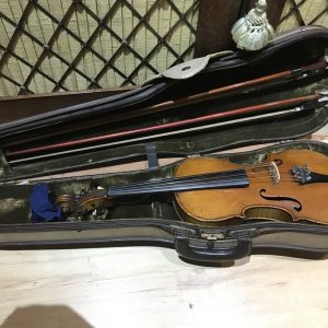 Violin German with two bows and case 19th century Antique Musical Instruments