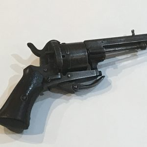 Belgium 1860's pin fire pocket revolver Antique Guns