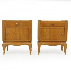 French Art Deco Bedside Cabinets in Cherry Antique Cabinets
