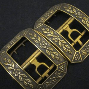 Mid 19th Century French Silver Gilt Buckles/Post incls. Antique Silver Antique Jewellery